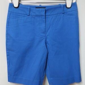 NWT Talbots Blue Cotton Stretch Bermuda Shorts 2 P